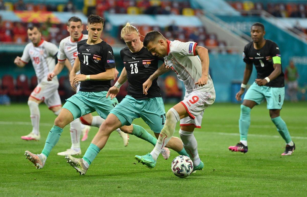 Avusturya, Kuzey Makedonya yı 3 golle mağlup etti #1