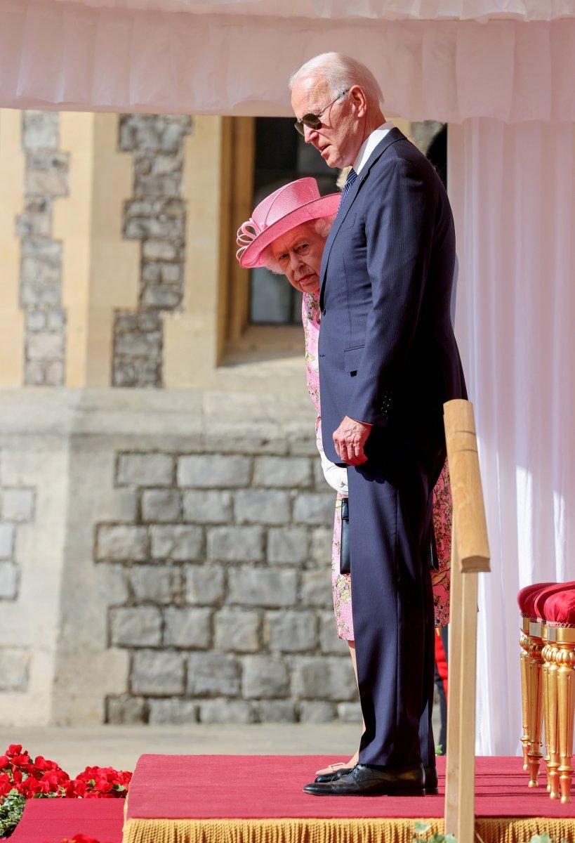 Joe Biden, İngiltere Kraliçesi II.Elizabeth ile bir araya geldi #8