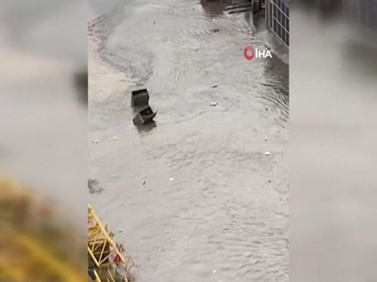 Ankara da sel sonrası araçlar su altında kaldı #1