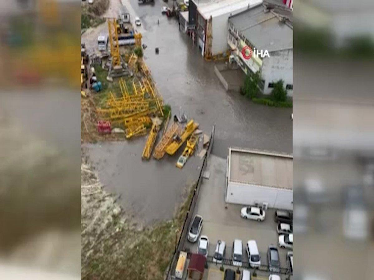 Ankara da sel sonrası araçlar su altında kaldı #6