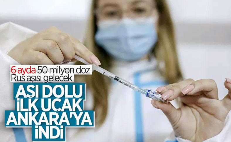 Sputnik V aşısının ilk sevkiyatı Türkiye'ye geldi