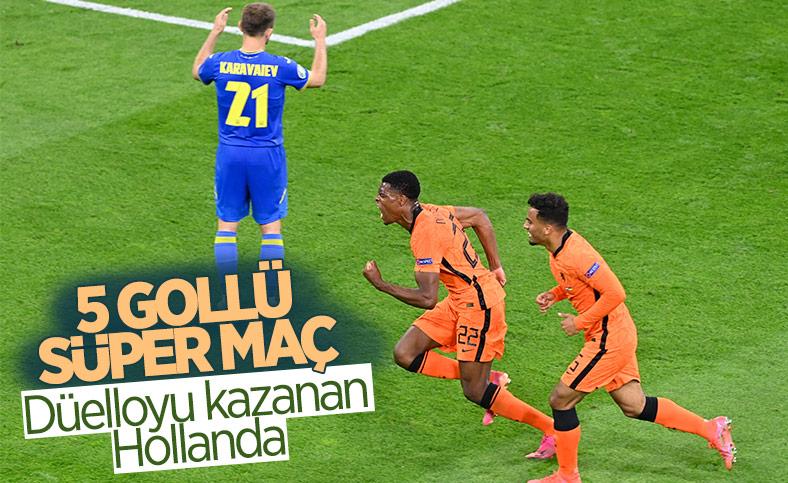 Hollanda, Ukrayna'yı 3 golle mağlup etti