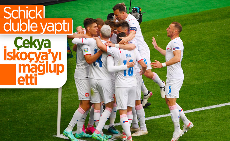 Çekya, İskoçya'yı 2 golle mağlup etti