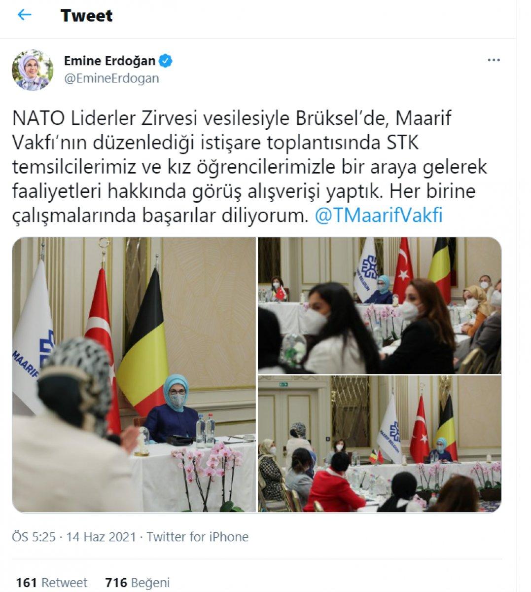 Emine Erdoğan, Belçika daki Türk STK larının temsilcileriyle bir araya geldi  #1