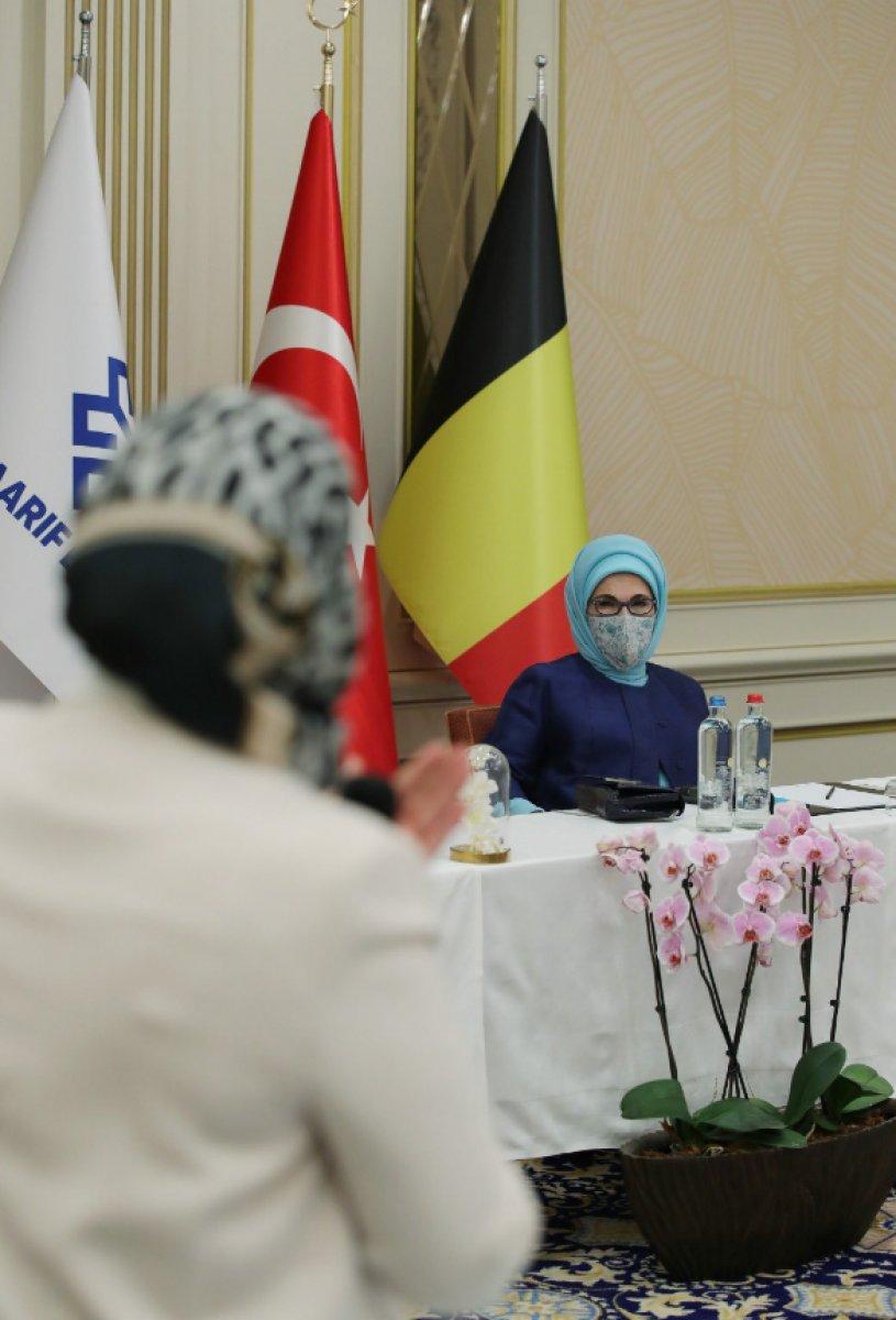 Emine Erdoğan, Belçika daki Türk STK larının temsilcileriyle bir araya geldi  #2