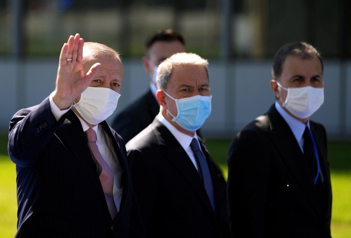 Cumhurbaşkanı Erdoğan, NATO karargahında #1