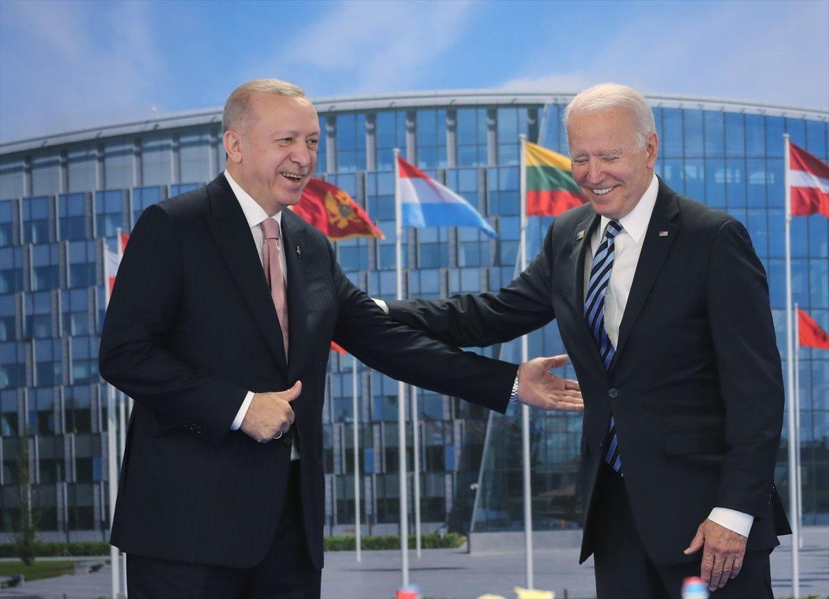 Cumhurbaşkanı Erdoğan ile Joe Biden görüşmesi #7