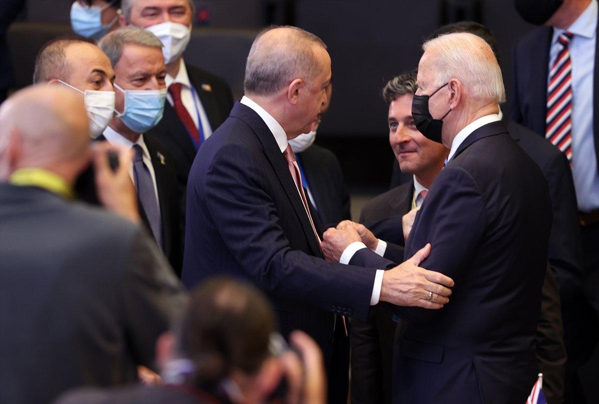 Cumhurbaşkanı Erdoğan ve Joe Biden dan ayaküstü sohbet #3