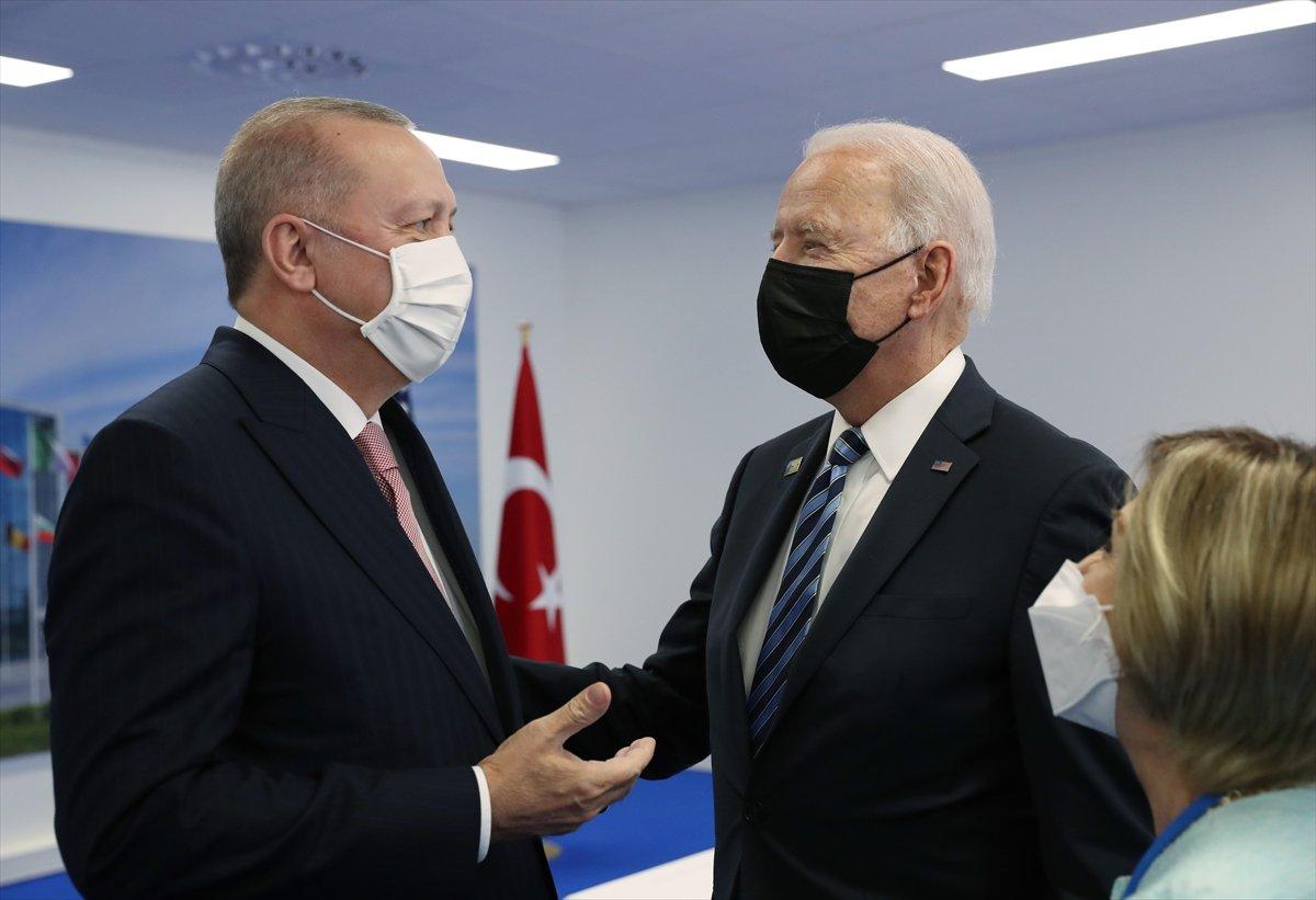 Cumhurbaşkanı Erdoğan ile Joe Biden görüşmesi #4