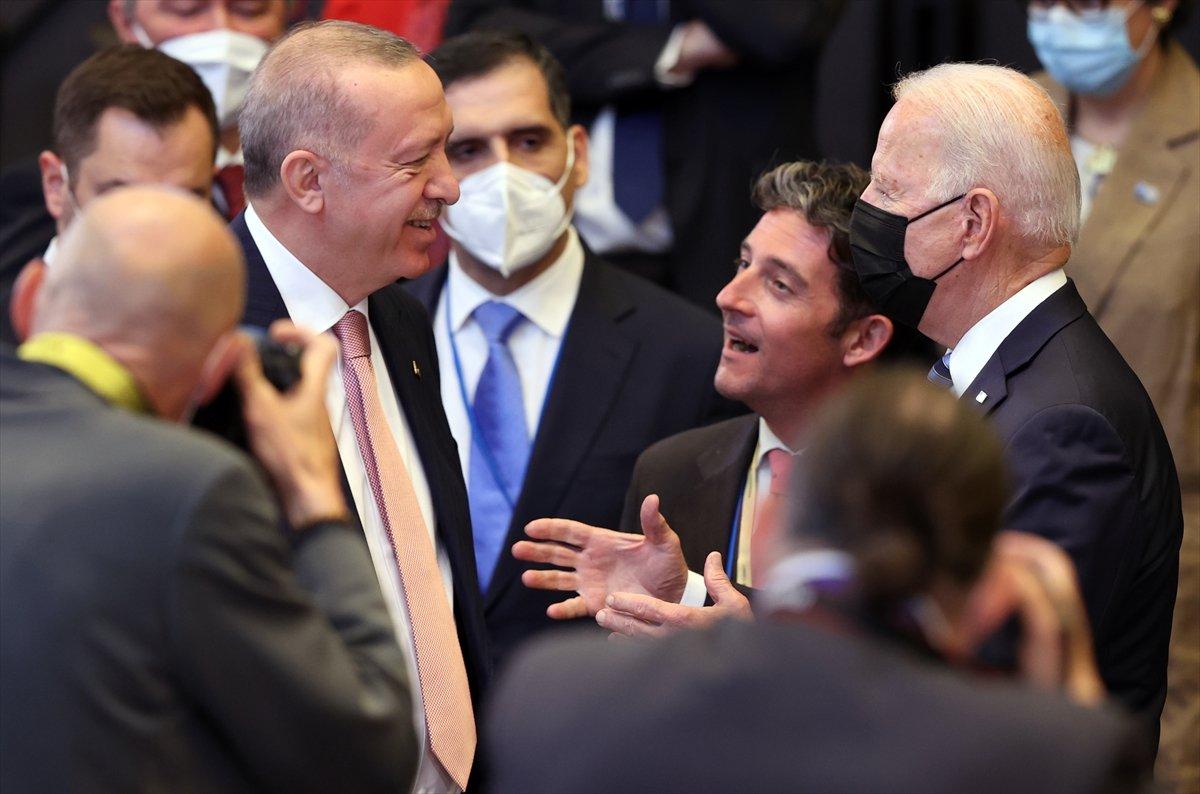 Cumhurbaşkanı Erdoğan ve Joe Biden dan ayaküstü sohbet #4