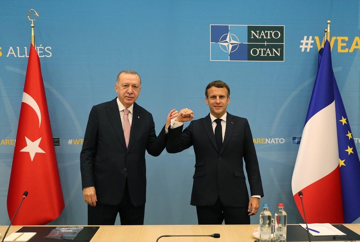 Cumhurbaşkanı Erdoğan dan Macron açıklaması #1