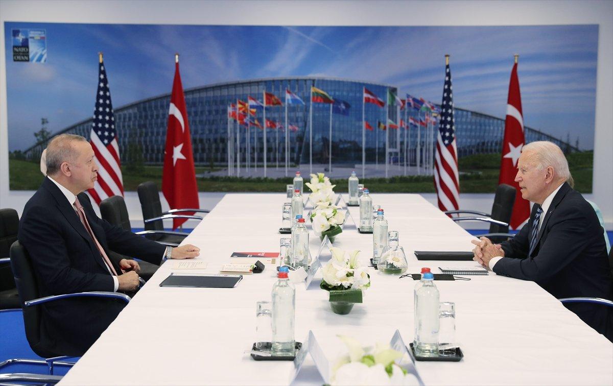Cumhurbaşkanı Erdoğan ile Joe Biden görüşmesi #5