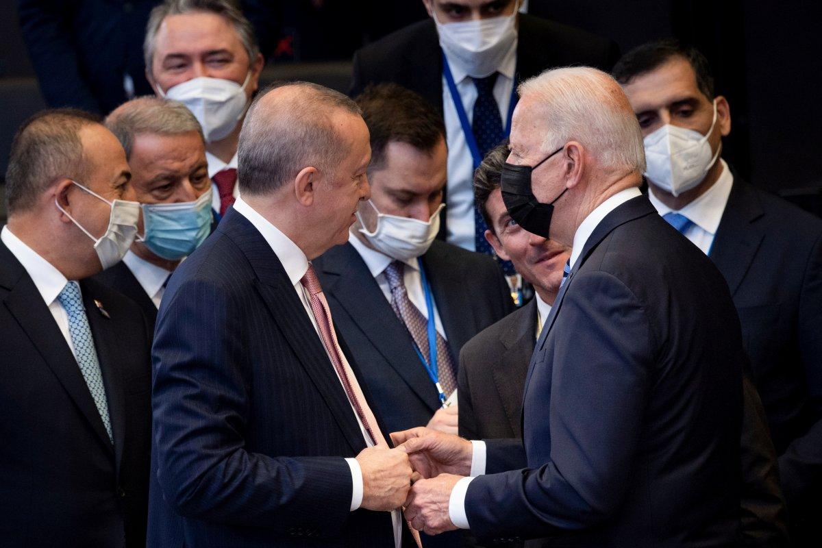 Cumhurbaşkanı Erdoğan ve Joe Biden dan ayaküstü sohbet #2