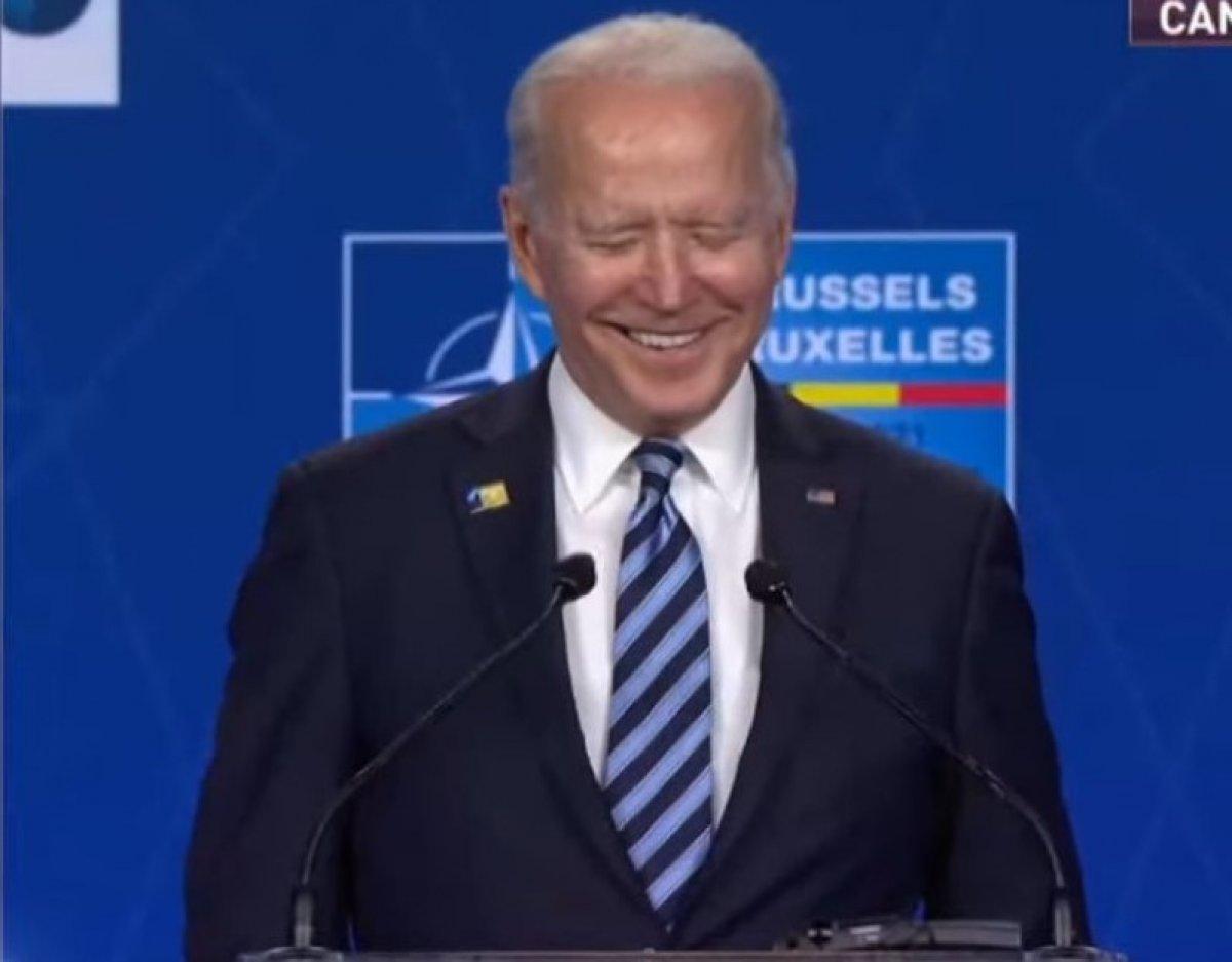 Joe Biden, Vladimir Putin sorusuna gülerek cevap verdi #1