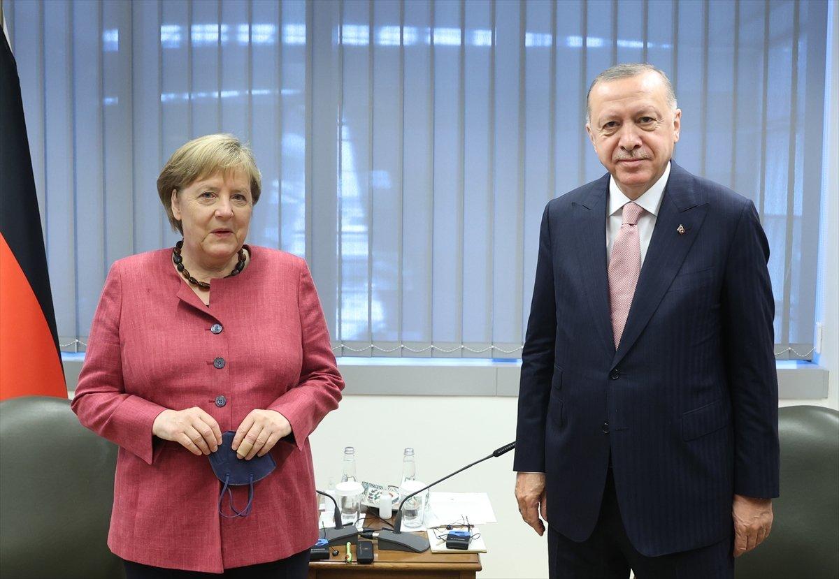 Cumhurbaşkanı Erdoğan ile Angela Merkel görüşmesi #2