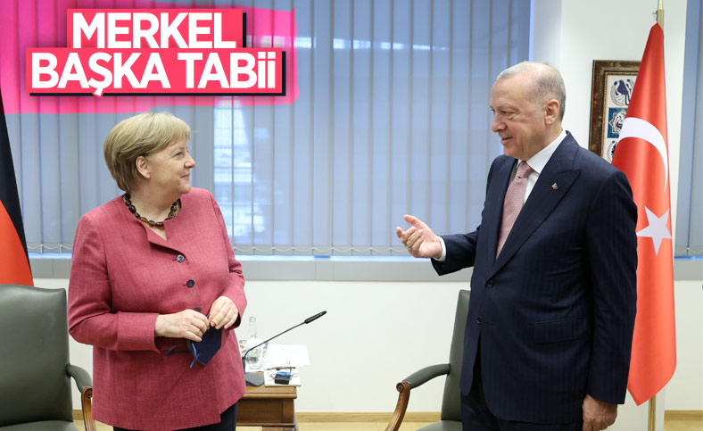 Cumhurbaşkanı Erdoğan ile Angela Merkel görüşmesi