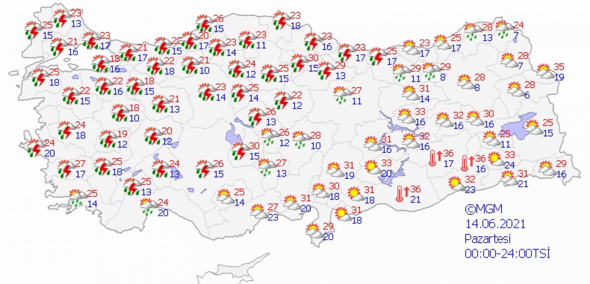 Meteoroloji'den 26 şehir için sağanak uyarısı #1