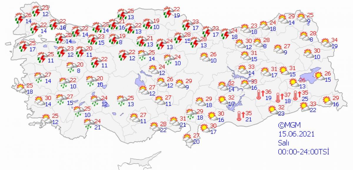 Meteoroloji'den 26 şehir için sağanak uyarısı #2