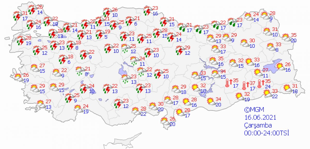 Meteoroloji'den 26 şehir için sağanak uyarısı #3
