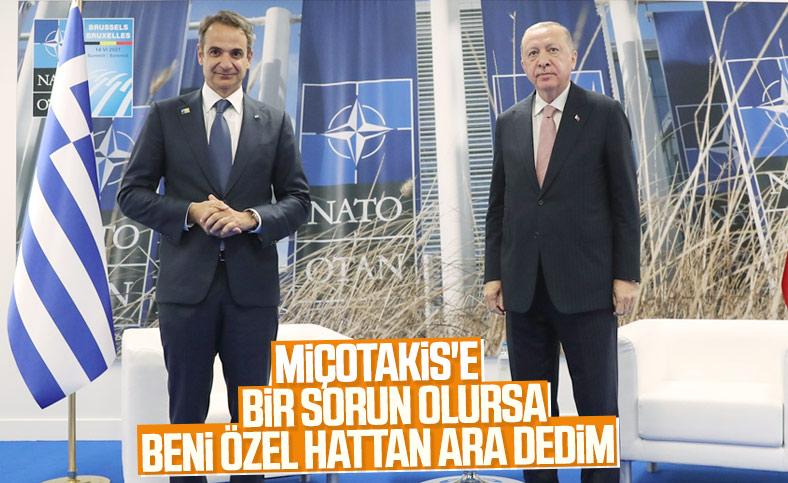 Cumhurbaşkanı Erdoğan'dan Yunanistan'a ilişkin: Üçüncü ülke ve kişileri işe karıştırmayalım