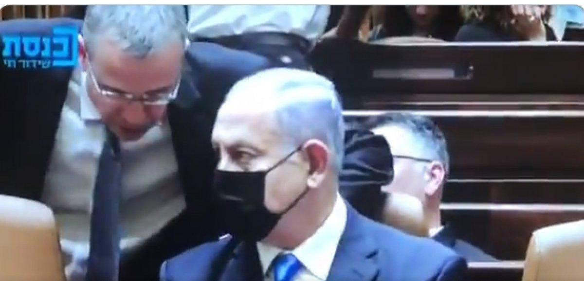 Güven oylaması sonrası Netanyahu ya koltuktan kalk uyarısı #1