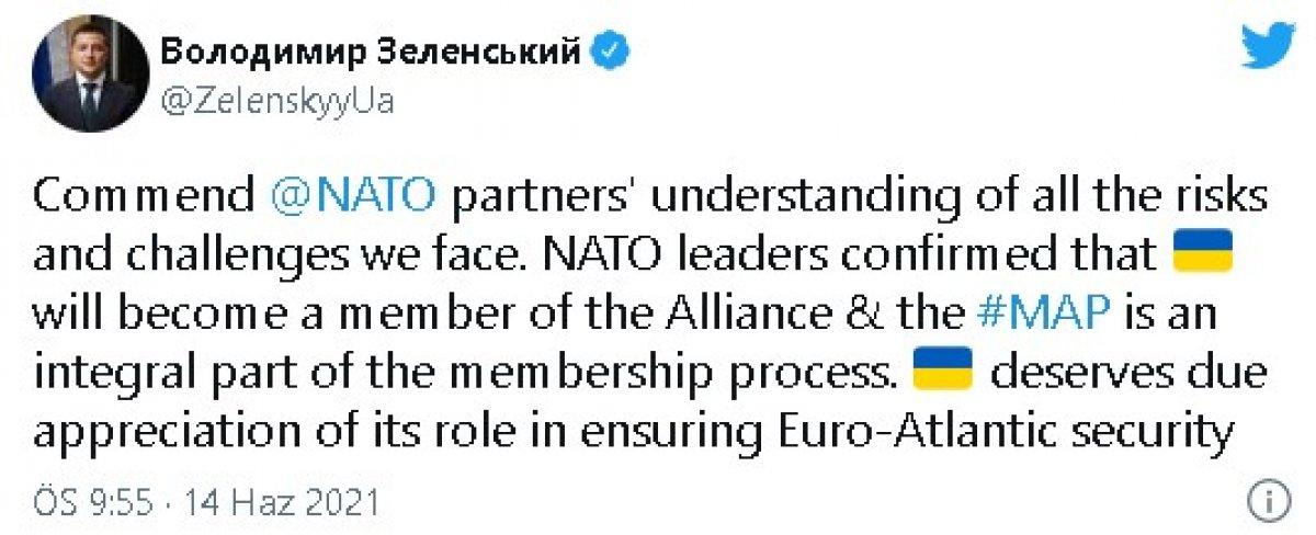 Zelenskiy: Ukrayna NATO nun bir parçası olacak #1