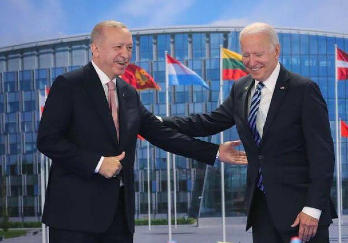 NATO Zirvesi nde Cumhurbaşkanı Erdoğan, Biden a kitap verdi #1