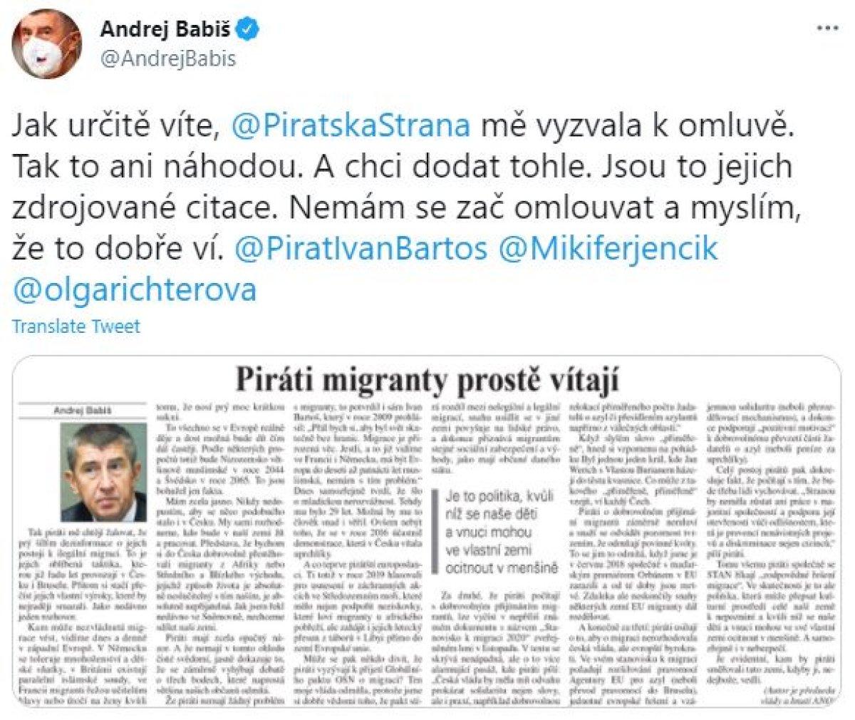 Andrej Babis: İsveç ve Hollanda nın çoğunluğu Müslümanlardan oluşacak #2