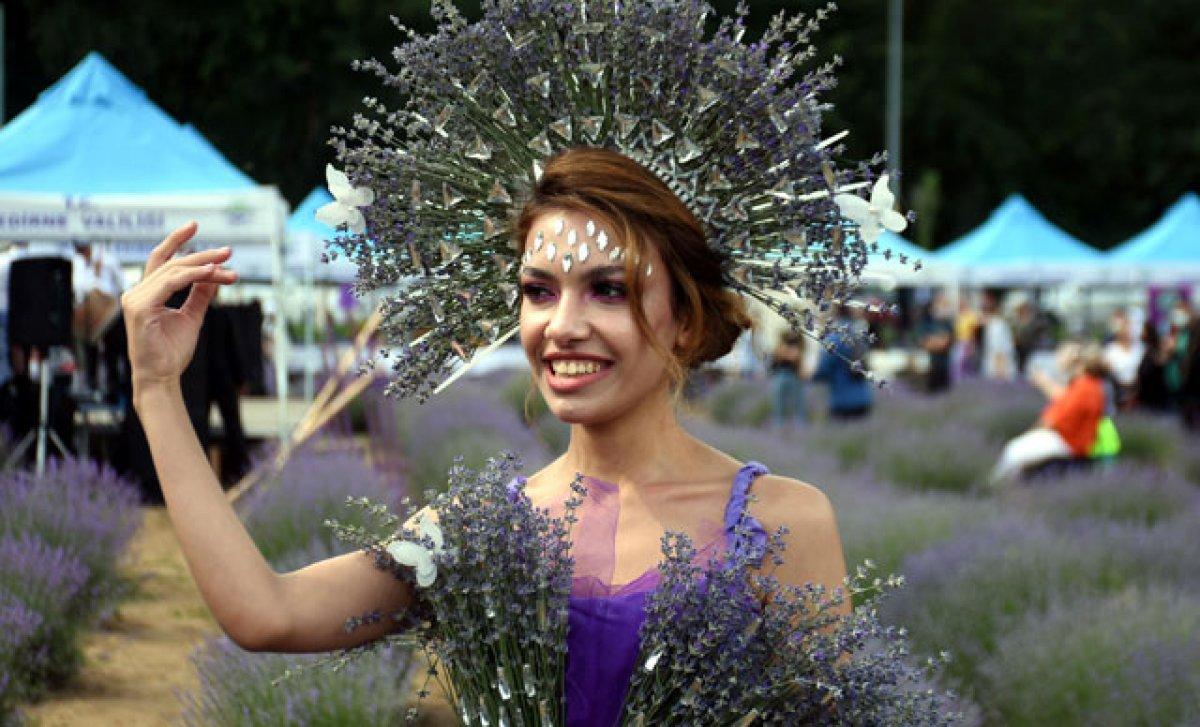 Edirne de mor tarlalar festival alanına döndü #1