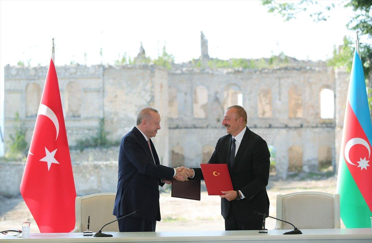 Cumhurbaşkanı Erdoğan ve Aliyev, Şuşa Beyannamesi ni imzaladı #2