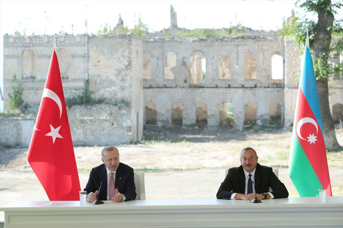 Cumhurbaşkanı Erdoğan ve Aliyev, Şuşa Beyannamesi ni imzaladı #7