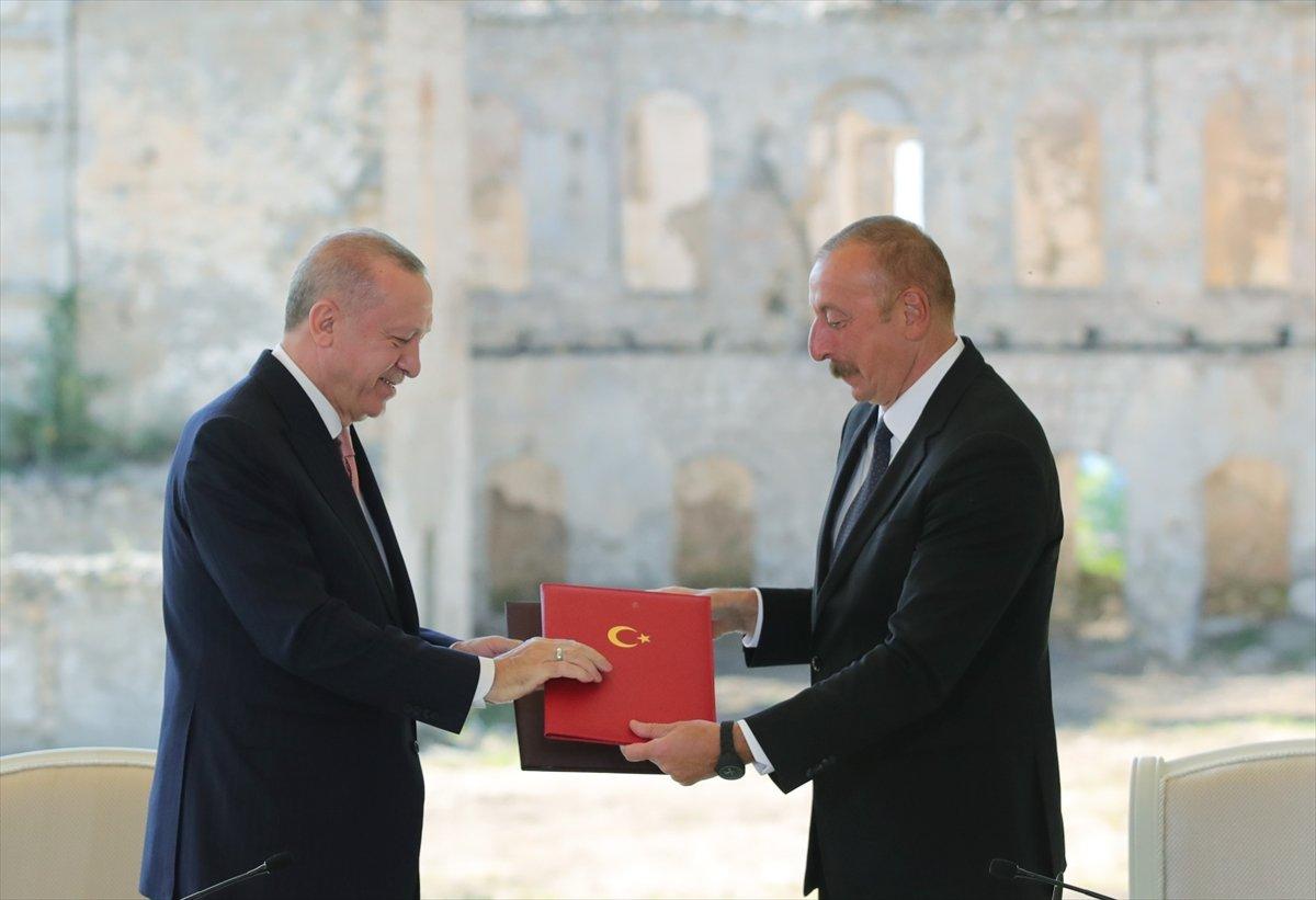 Cumhurbaşkanı Erdoğan ve Aliyev, Şuşa Beyannamesi ni imzaladı #3