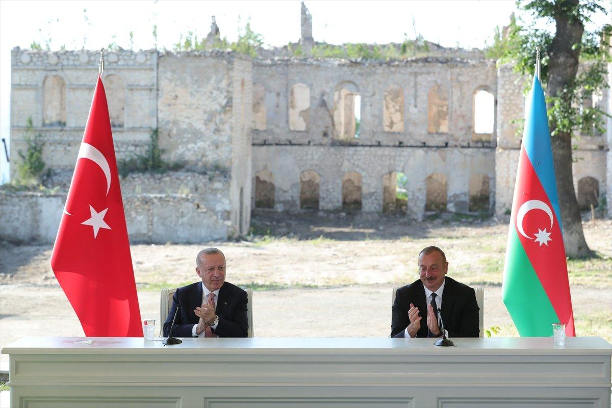 Cumhurbaşkanı Erdoğan ve Aliyev, Şuşa Beyannamesi ni imzaladı #6