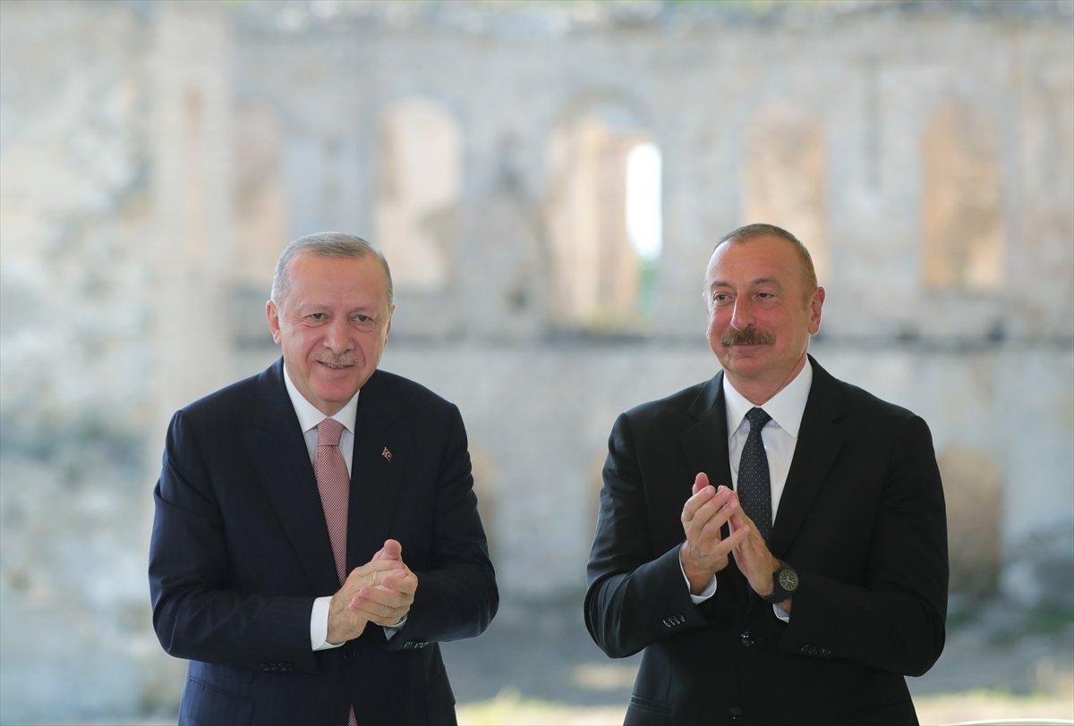 Cumhurbaşkanı Erdoğan ve Aliyev, Şuşa Beyannamesi ni imzaladı #9