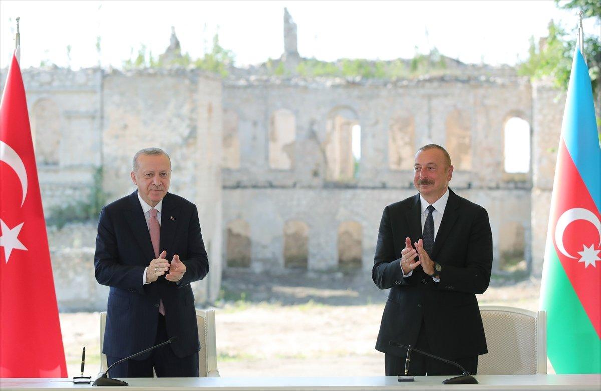 Cumhurbaşkanı Erdoğan ve Aliyev, Şuşa Beyannamesi ni imzaladı #1
