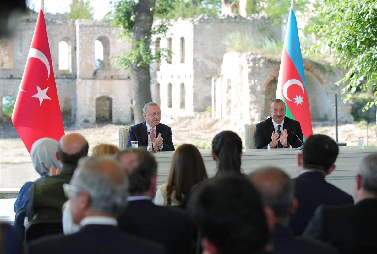 Cumhurbaşkanı Erdoğan ve Aliyev, Şuşa Beyannamesi ni imzaladı #4