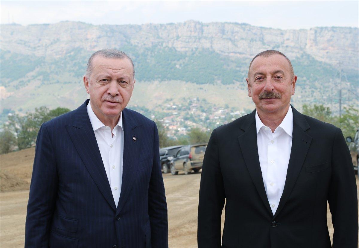 Cumhurbaşkanı Erdoğan ile Aliyev Şuşa'da #1