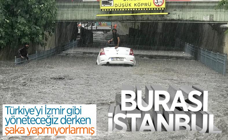 İstanbul'da sağanak hayatı felç etti
