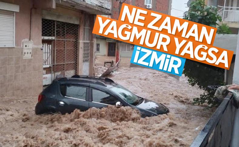 İzmir'de sağanak yağış nedeniyle su baskınları yaşandı