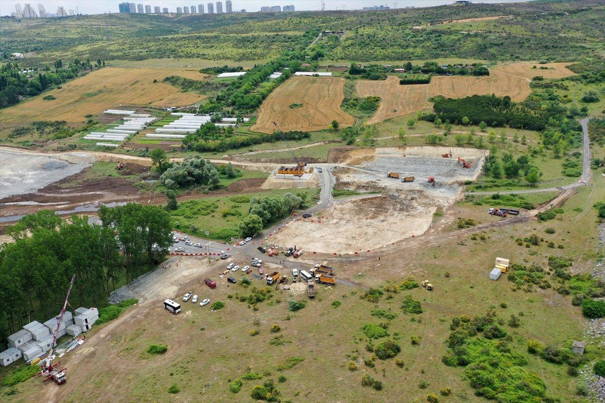 Kanal İstanbul un ilk köprüsünün çalışmaları devam ediyor #7