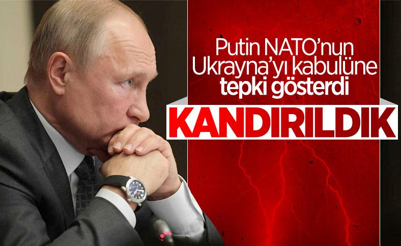 Vladimir Putin, NATO'nun Ukrayna'yı kabul etmesine tepki gösterdi