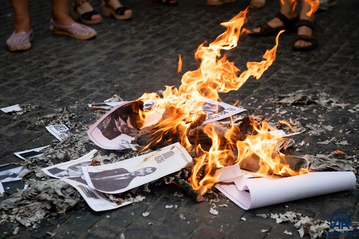 Katalonya da bağımsızlık yanlıları İspanya Kralı nın fotoğraflarını yaktı #6