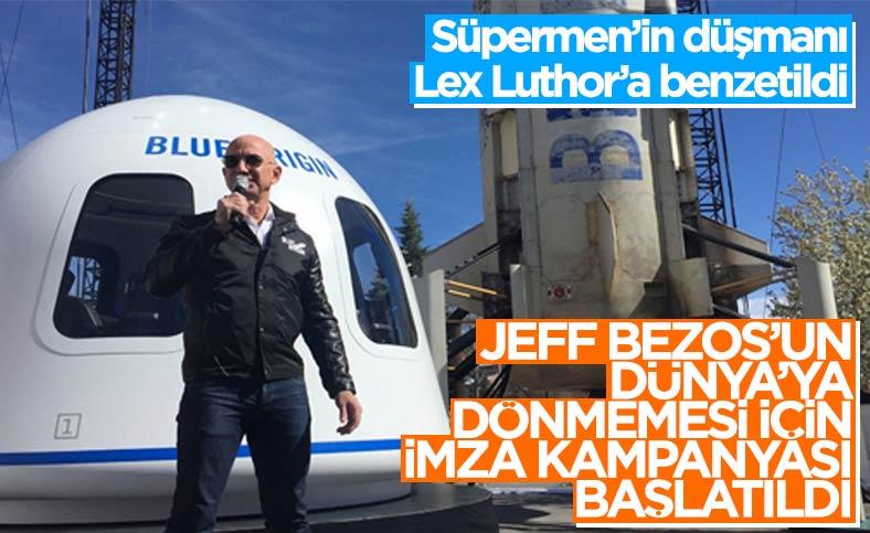 Jeff Bezos'un uzay yolculuğundan dönmemesi için imza kampanyası başlatıldı