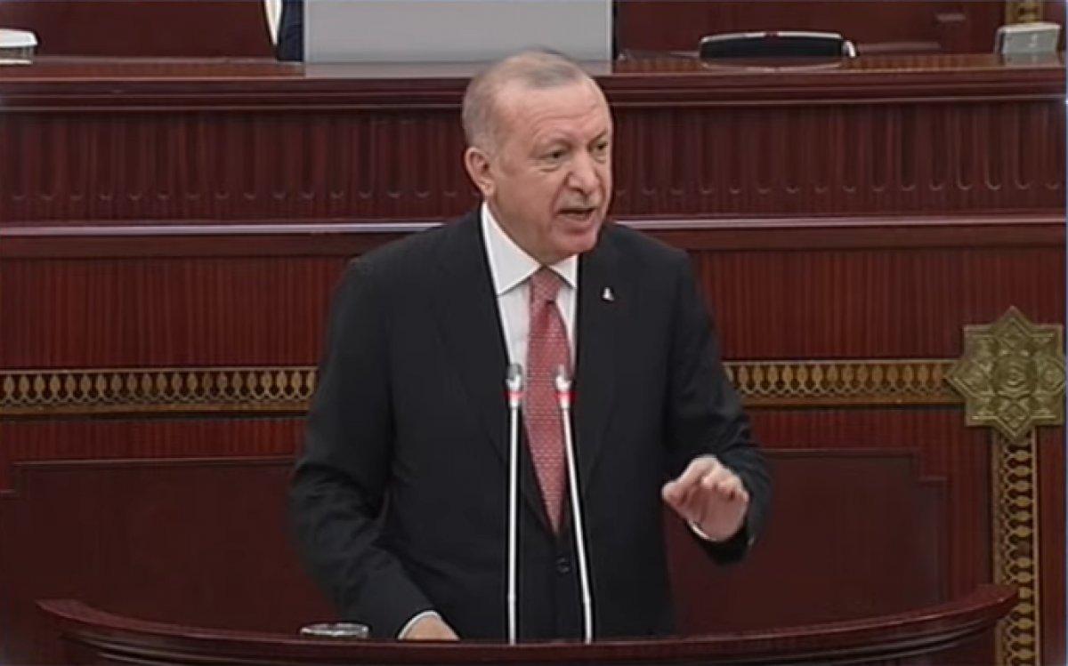 Cumhurbaşkanı Erdoğan ın Azerbaycan Milli Meclisi'ne hitabı #1