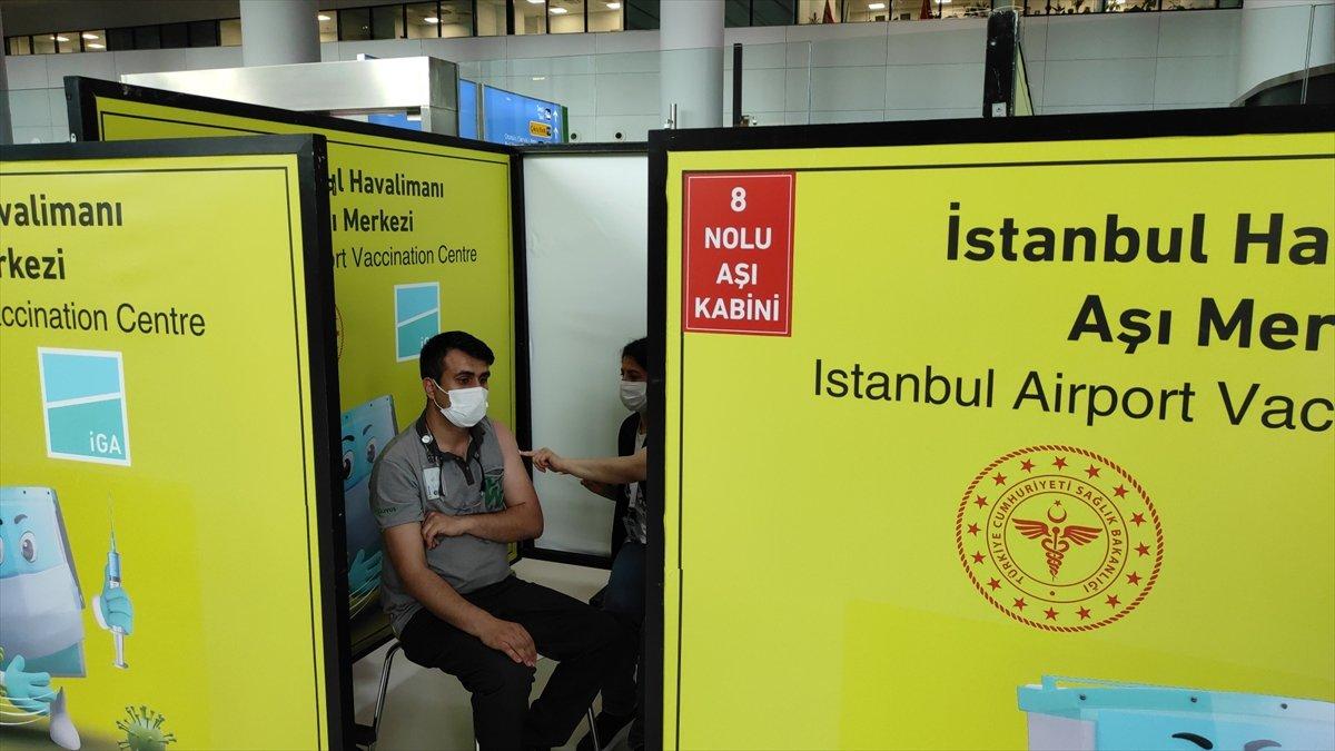 İstanbul Havalimanı nda aşı merkezi hizmete açıldı #3
