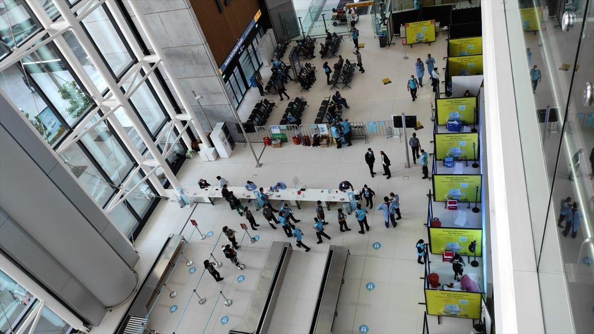 İstanbul Havalimanı nda aşı merkezi hizmete açıldı #1