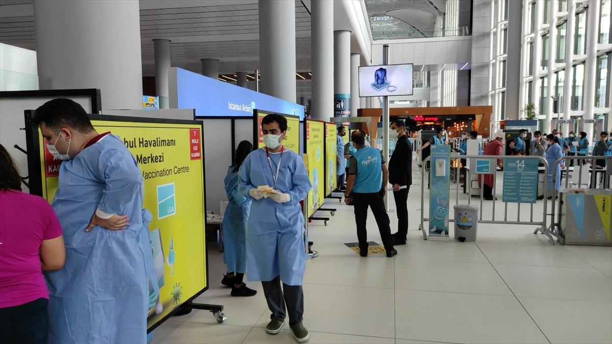 İstanbul Havalimanı nda aşı merkezi hizmete açıldı #2