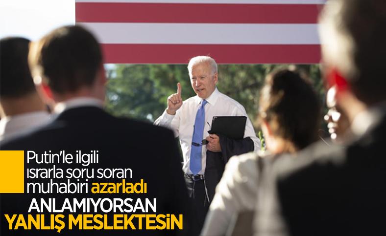 Joe Biden'dan soru soran muhabire azar