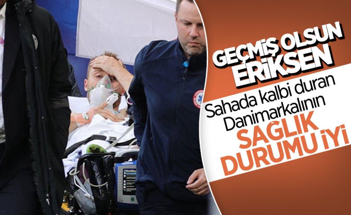 Belçikalı futbolcular Eriksen için topu taca atıyor #2