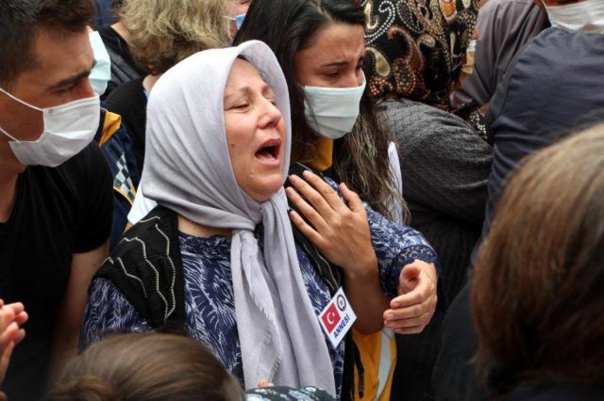 Şehit polis Ercan Yangöz son yolculuğuna uğurlandı #3